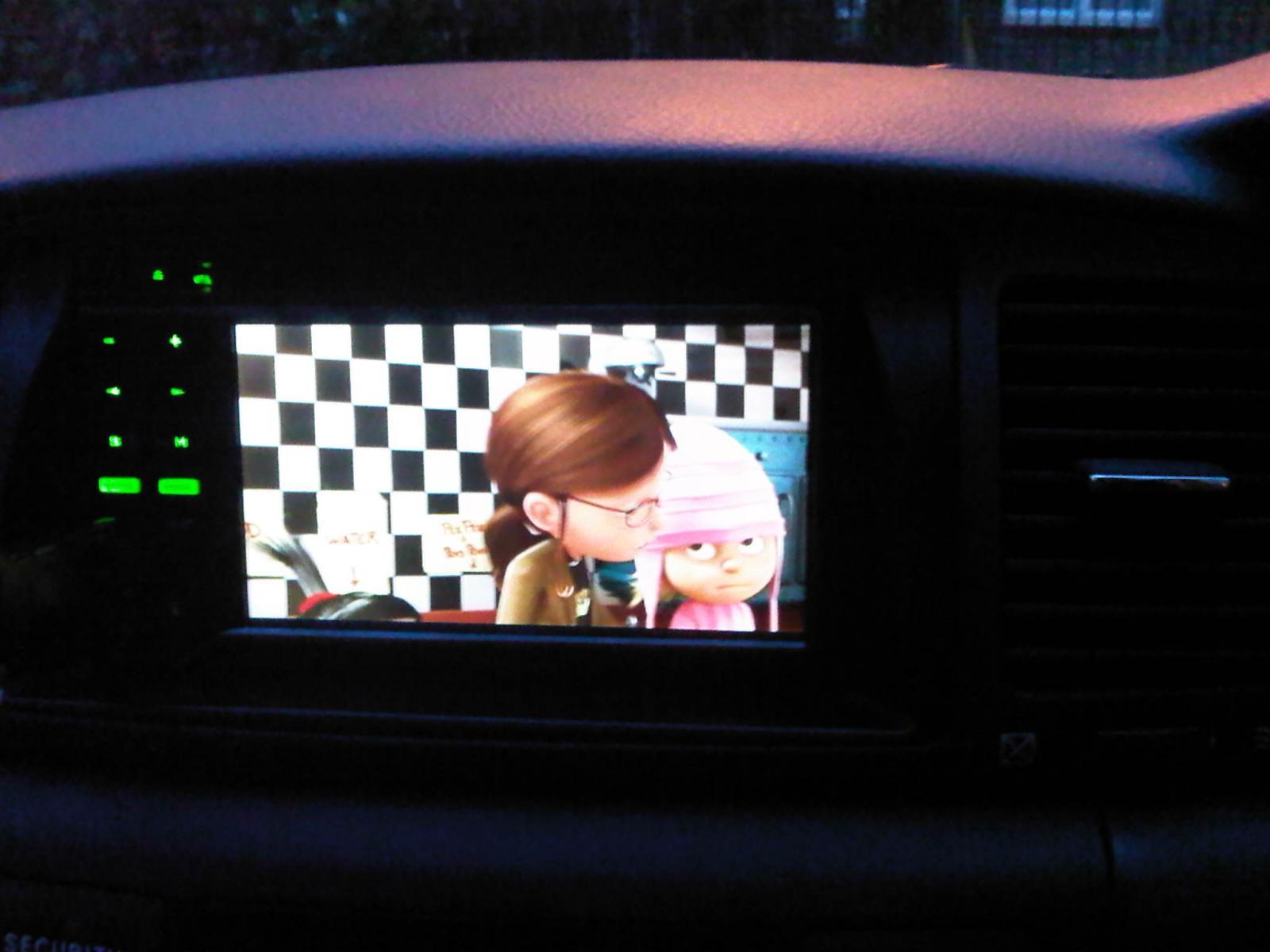 Pioneer HU installed with usb. Playing Despicable Me (No flash)