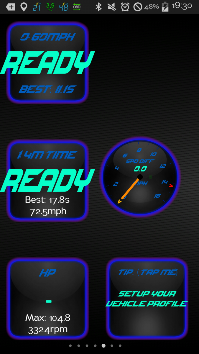 Screenshot from Torque Pro