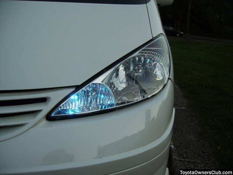 Blue LED sidelights