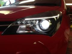 Yaris 2015 Headlight with 9700K 'white light' bulbs