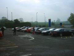 More cars parked at Watford Gap