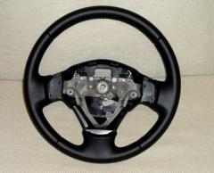 Leather steering wheel